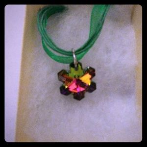 Jewelry - Winter Green Crystal Snowflake Necklace